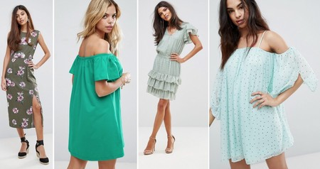 Vestidos Verde Verano 2017