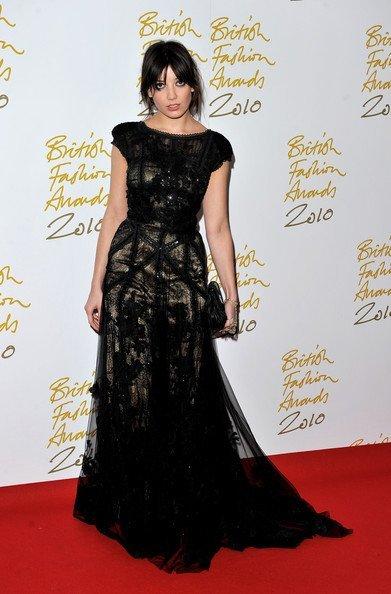 Daisy Lowe en los los British Fashion Awards 2010