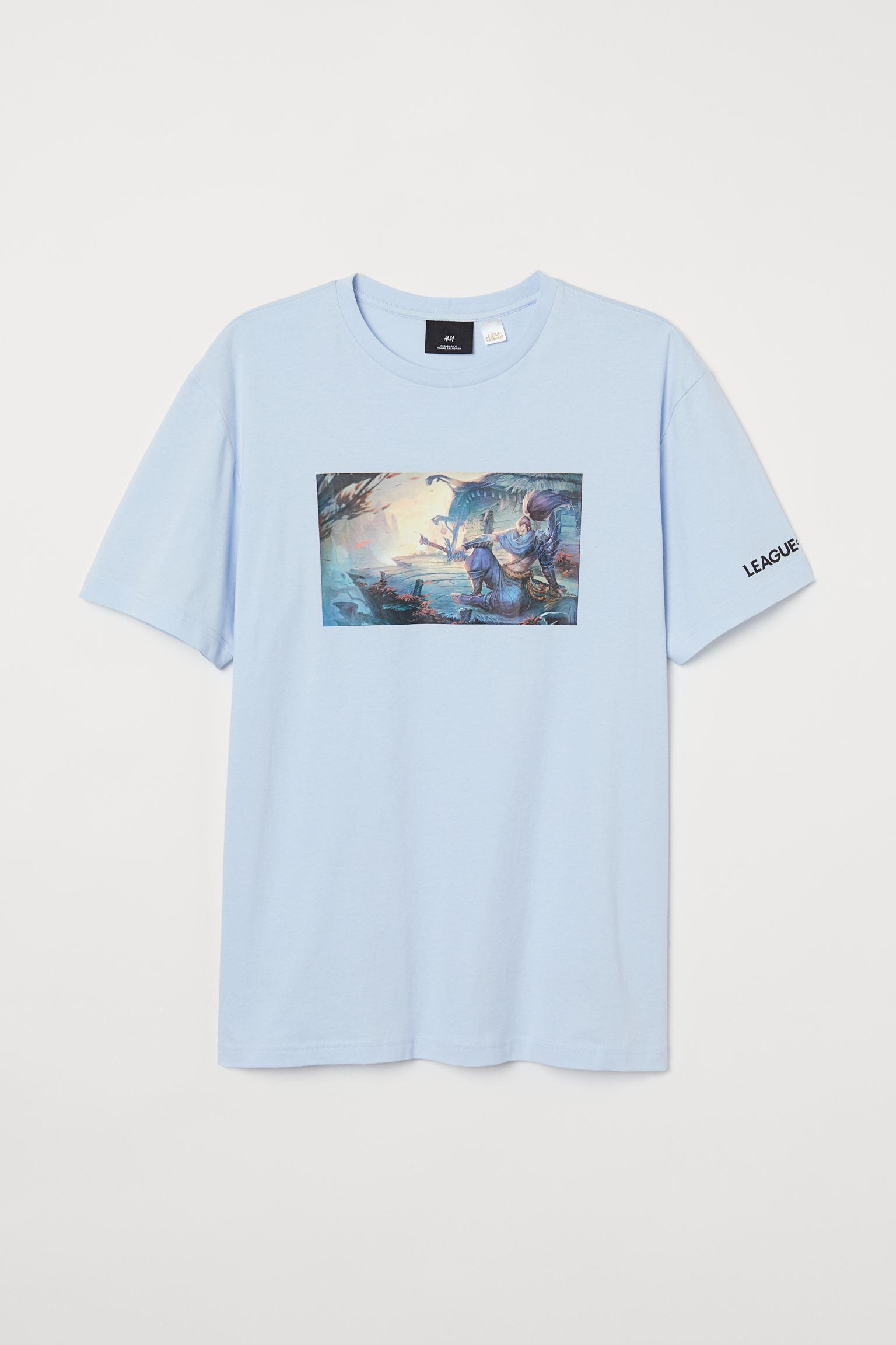 Camiseta ancha en azul cielo de League of Legends