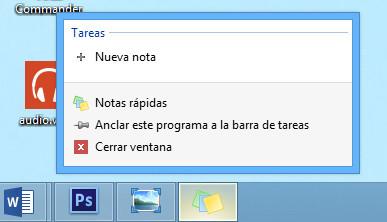Notas rápidas en Windows