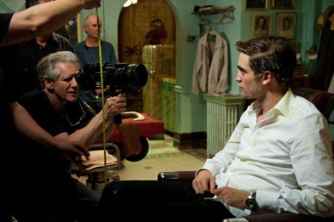 David Cronenberg y Robert Pattinson en el rodaje de Cosmopolis