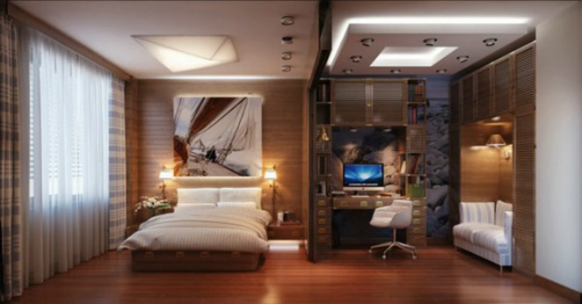 Dormitorio marino muy masculino