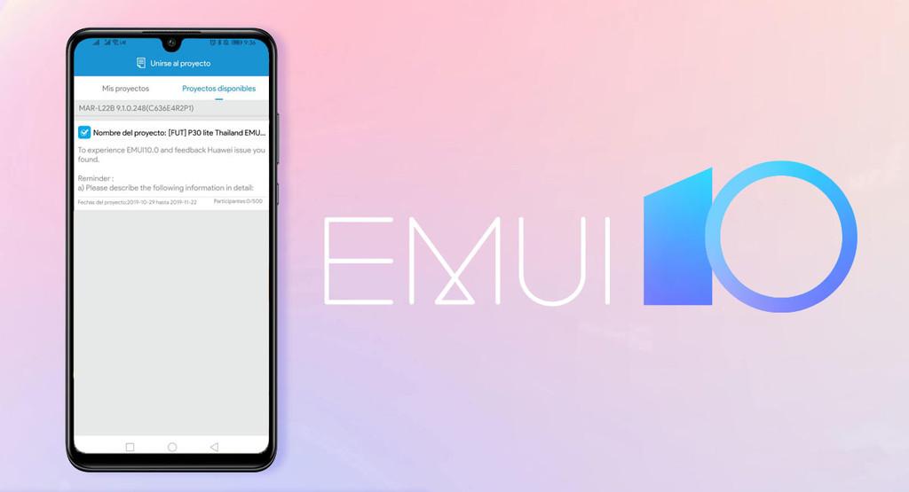 Il Huawei P30 Lite apre il suo programma di beta EMUI 10 Android 10