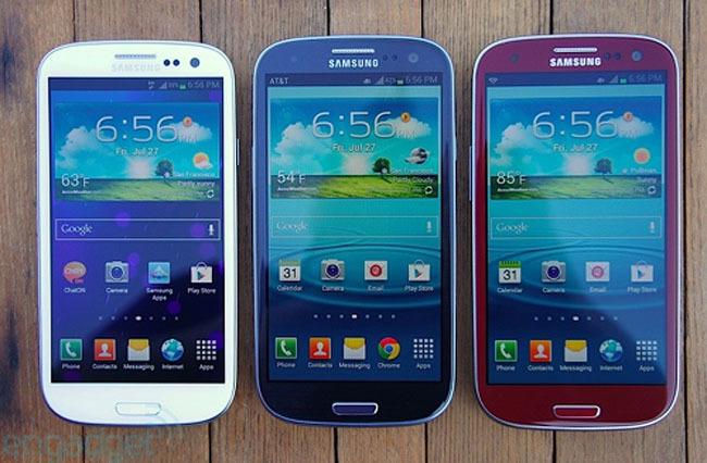 Samsung Galaxy SIII Marble White, Pebble Blue y Garnet Red