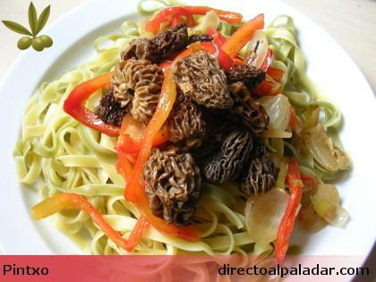 Receta de pasta con setas: Morchella Cónica