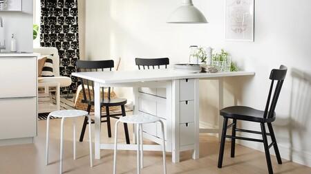 Las mesas de Ikea más pequeñas para aprovechar el espacio (y algunas, son abatibles)