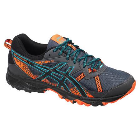 Asics Gel Kanaku Tm 3 Hombre Gris Naranja Zapatillas Trail Running