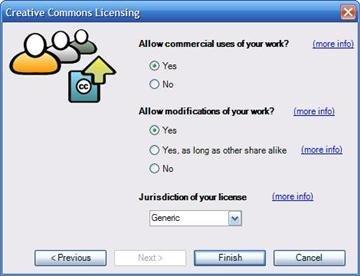 Add-in de Office para aplicar licencias Creative Commons a nuestros documentos