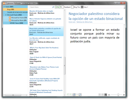RikReader, un prometedor lector de feeds para Windows