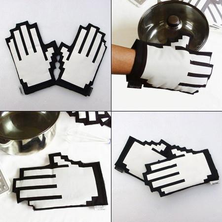 Guantes de cocina pixelados