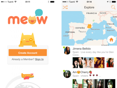 Meow, el Chatroulette llevado a la mensajería móvil