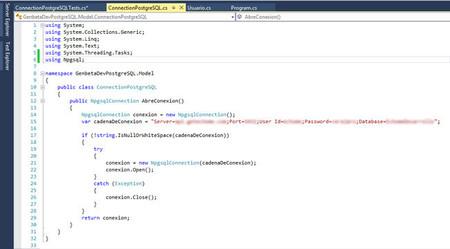 PostgreSQL con .Net