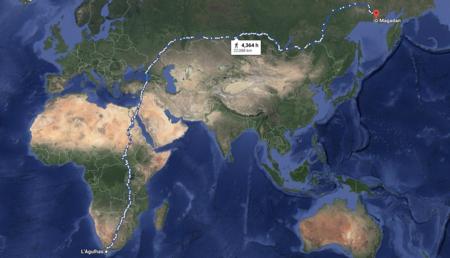 El camino a pie más largo del mundo: 22.000 kilómetros y tres años de viaje entre Sudáfrica y Siberia