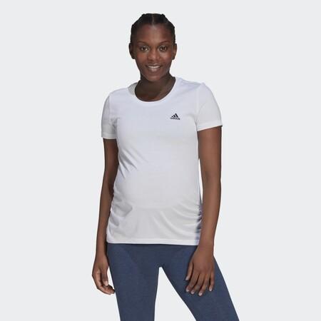 Camiseta Essentials Cotton Premama Blanco Gv6579 21 Model
