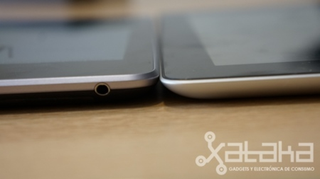 Nexus 7 comparativa grosor con nuevo ipad