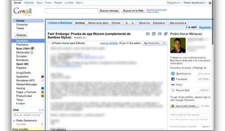 Rapportive, plugin para enriquecer la información de tus contactos en Gmail