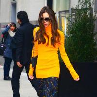 Victoria Beckham poseída por el espíritu de la abeja Maya inyecta un poco de color al gris invierno neoyorquino