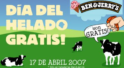 Día del Helado Gratis en las heladerías Ben & Jerry's