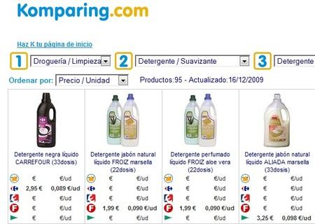 Komparing: otro comparador de precios de supermercado