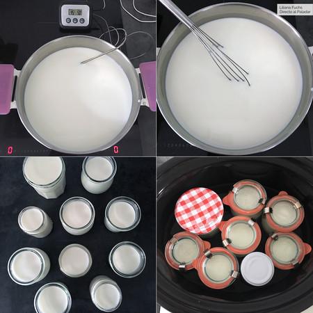Yogur en Crockpot. Pasos