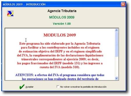 Programa de ayuda Módulos 2009 disponible para su descarga