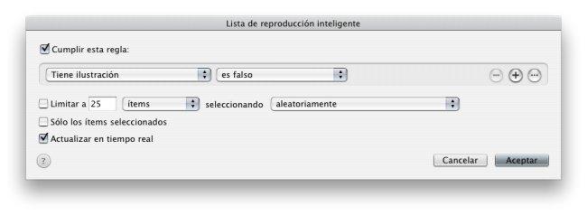 Listas inteligentes en iTunes