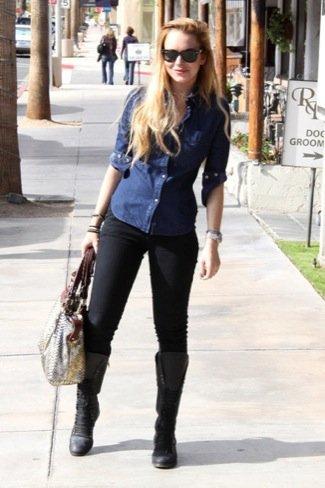 Lindsay Lohan leggings