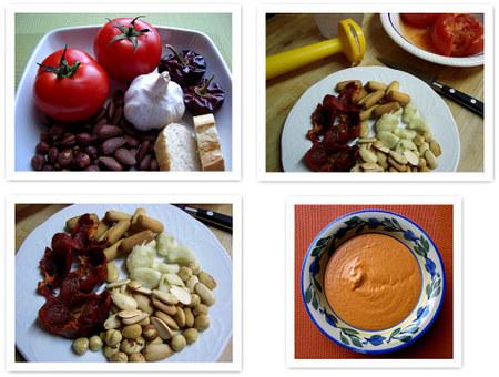 Cómo hacer salsa romesco. Collage