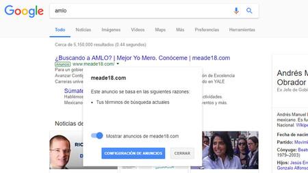 Cierto, Meade se alía con Google y redirecciona búsquedas a su campaña