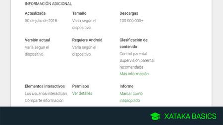 Cómo ver qué versión de una app Android tienes instalada