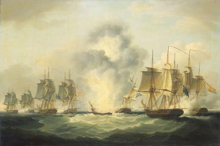 Francis Sartorius Four Frigates Capturing Spanish Treasure Ships 5 October 1804