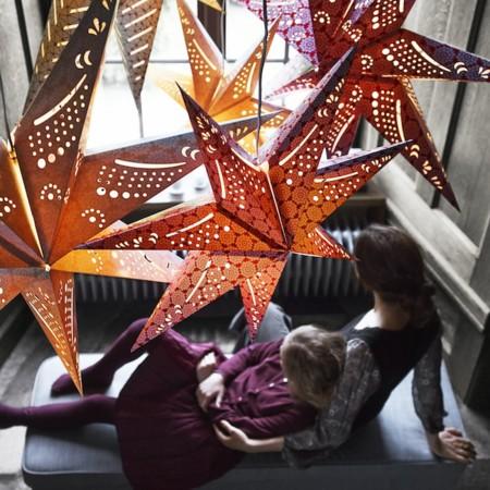 Ikea Lampara Techo Estrella Papel Strala Catalogo Navidad 2015 Ph129706