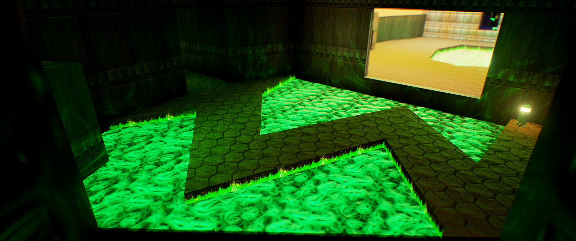 Foto de Nivel E1M1 de Doom en Unreal Engine (3/13)