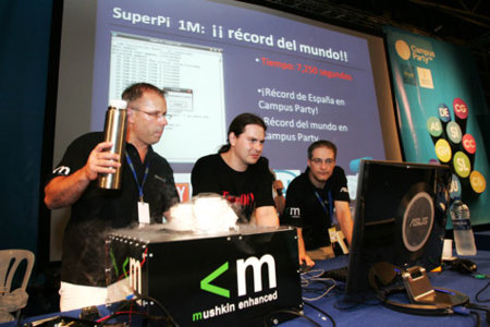 Record de overclocking en la Campus Party de Valencia