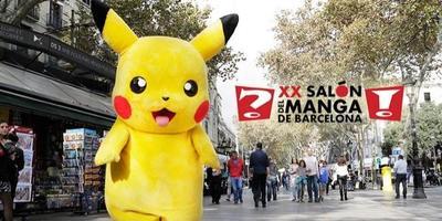 Pikachu llega a Barcelona para inaugurar el XX Salón del Manga