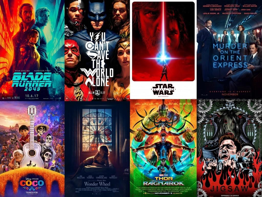 Algunos de los estrenos más esperados de los últimos meses de 2017