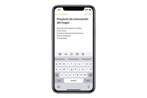 Cómo acceder a la app Notas desde la pantalla bloqueada de nuestro iPhone o iPad