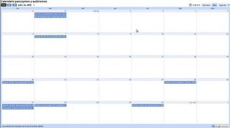 Calendario para pymes y autónomos del mes de julio 2009