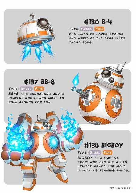 Pokemon Star Wars Bb8