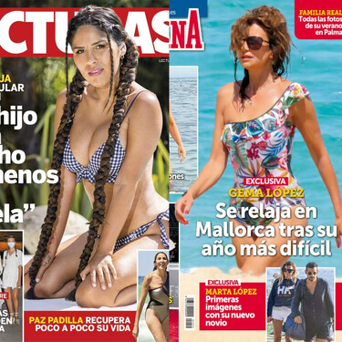 El posado más sexy de Isa Pantoja, las lujosas vacaciones de Gema López y la complicidad entre Paloma Cuevas y Antonio Banderas en 'Starlite': estas son las portadas del miércoles 11 de agosto