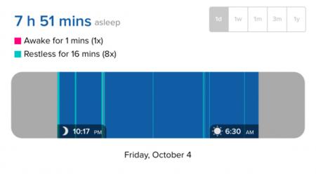 Dormir fitbit registro