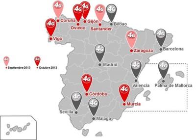 Vodafone suma nuevas ciudades en su despliegue de 4G y Fibra