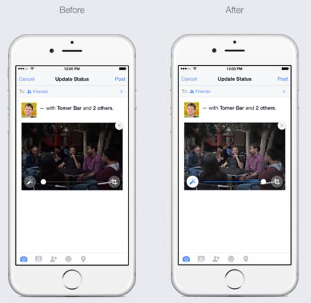 Facebook activa la mejora automática de fotografías en iOS