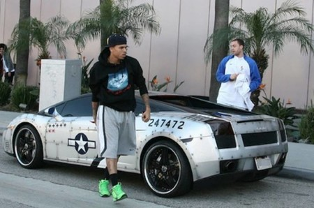 Chris Brown y su Lamborghini Gallardo