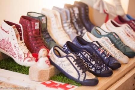 Zapatillas de Lolita von Stoff