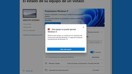 La app para comprobar si tu PC es compatible con Windows 11 da información errónea e incompleta, y Microsoft promete arreglarlo