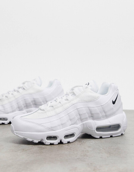 Zapatillas En Triple Blanco Air Max 95 De Nike