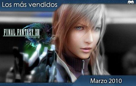 Los juegos más vendidos en España. Marzo 2010