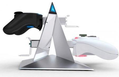 Pirámide para recargar los mandos de tus consolas