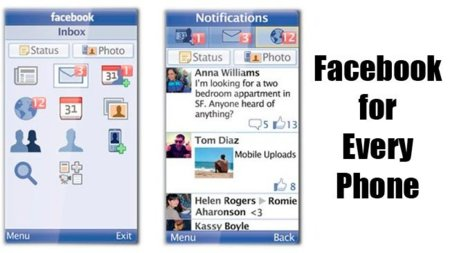 Facebook en móviles Java con Facebook for Every Phone